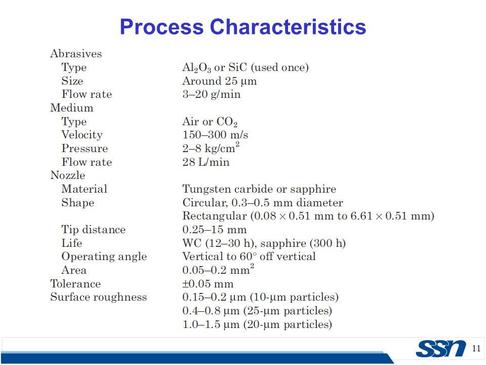 11 Process Characteristics