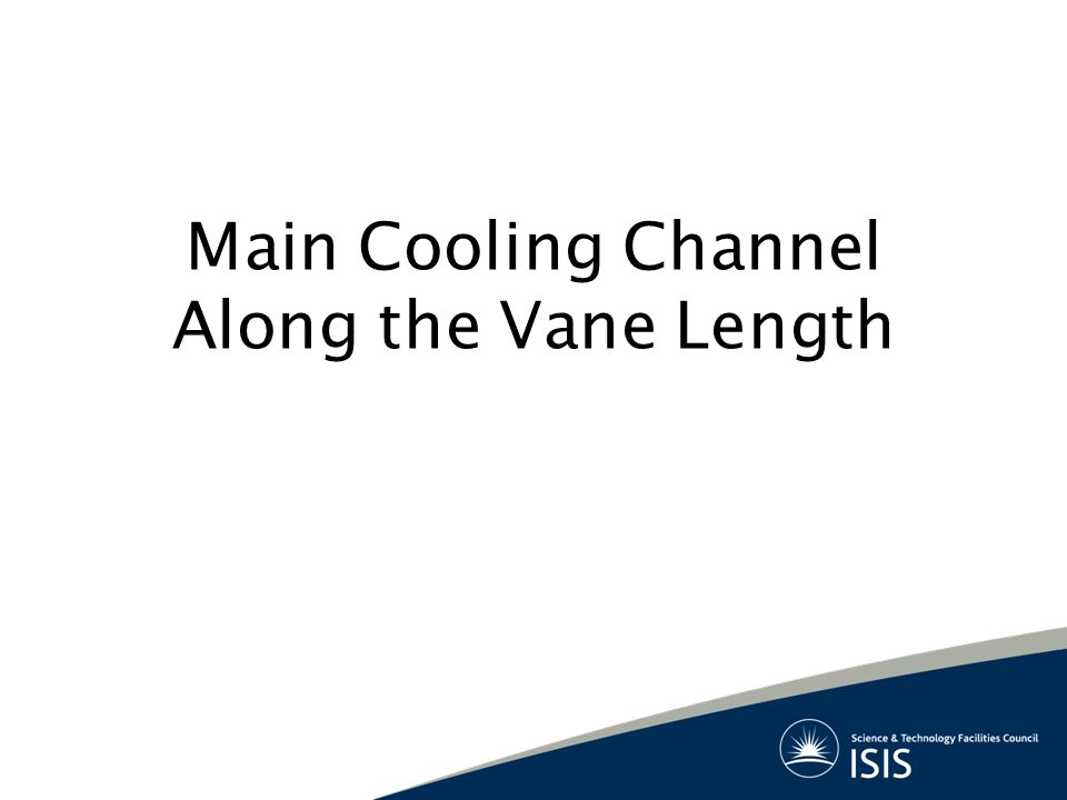 Main Cooling Channel Along the Vane Length