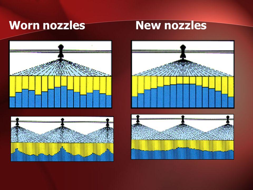 Worn nozzlesNew nozzles