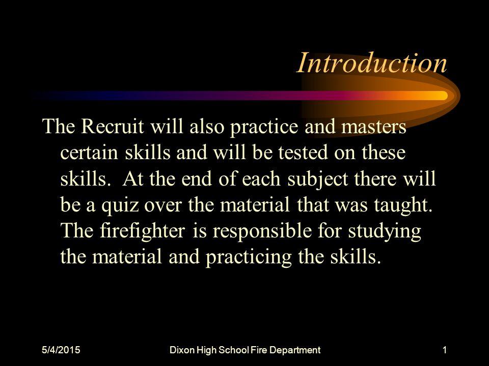 5/4/2015Dixon High School Fire Department42 Quiz 10.