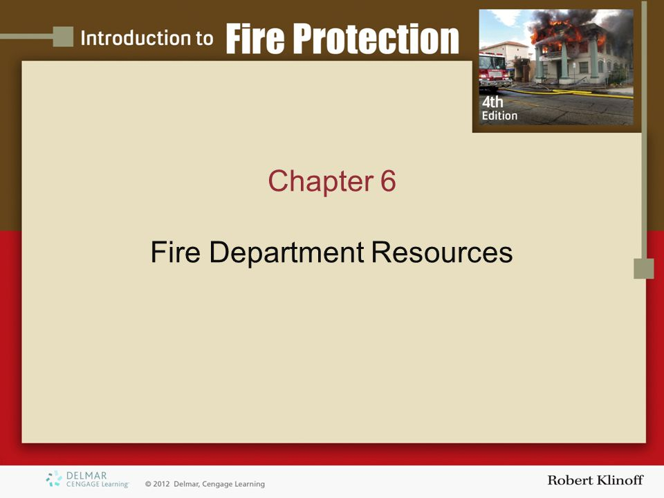 Chapter 6 Fire Department Resources
