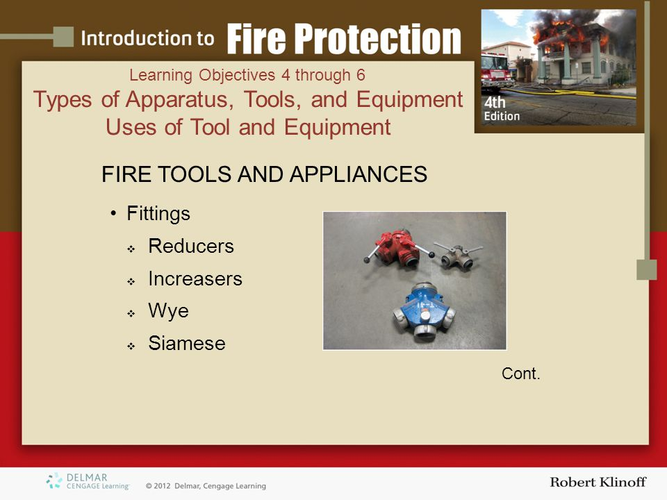 FIRE TOOLS AND APPLIANCES Fittings  Reducers  Increasers  Wye  Siamese Cont.