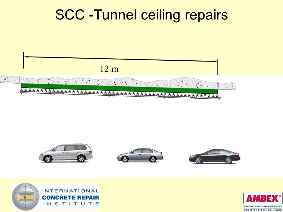 SCC -Tunnel ceiling repairs 12 m