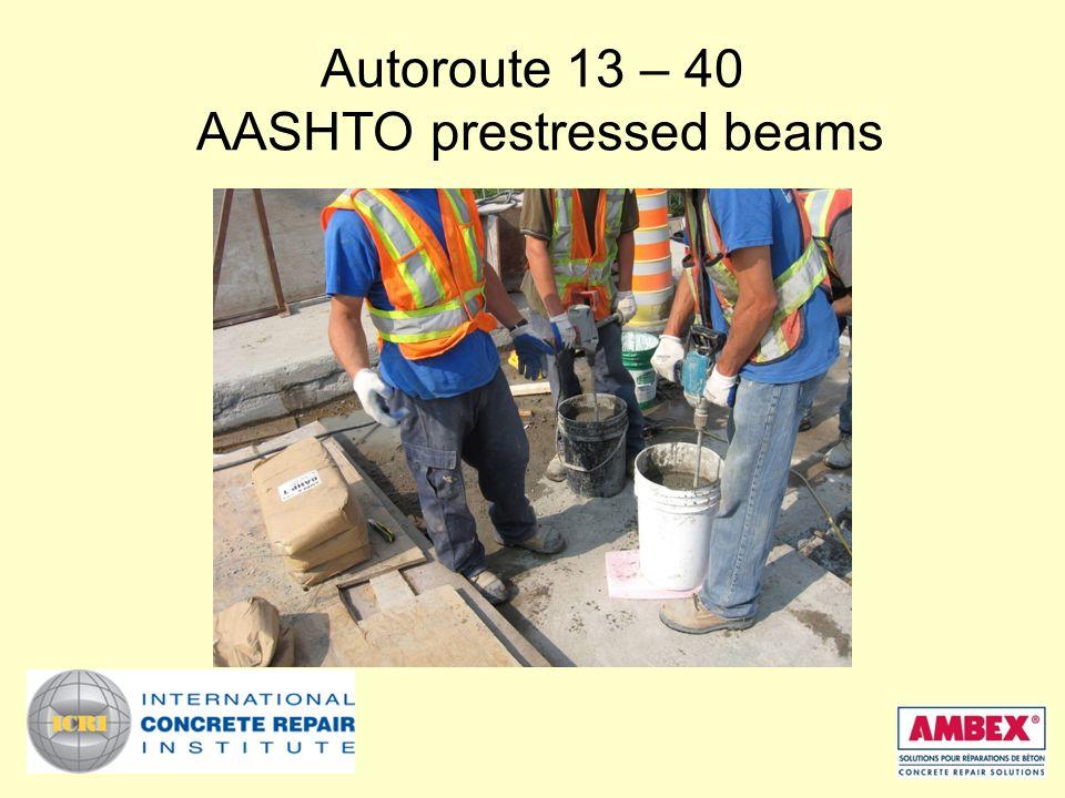 Autoroute 13 – 40 AASHTO prestressed beams