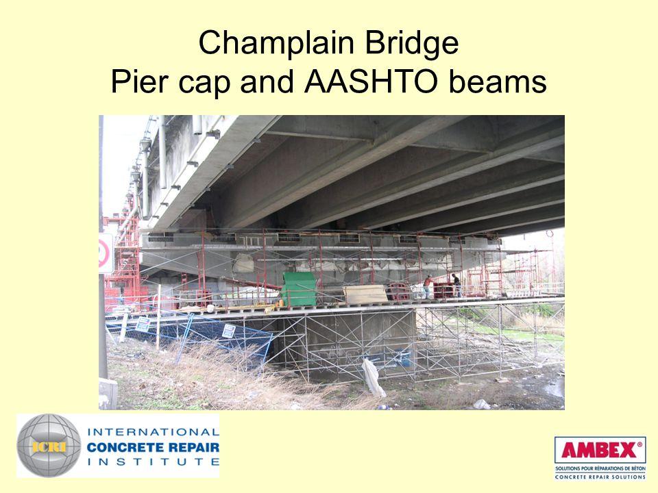 Champlain Bridge Pier cap and AASHTO beams