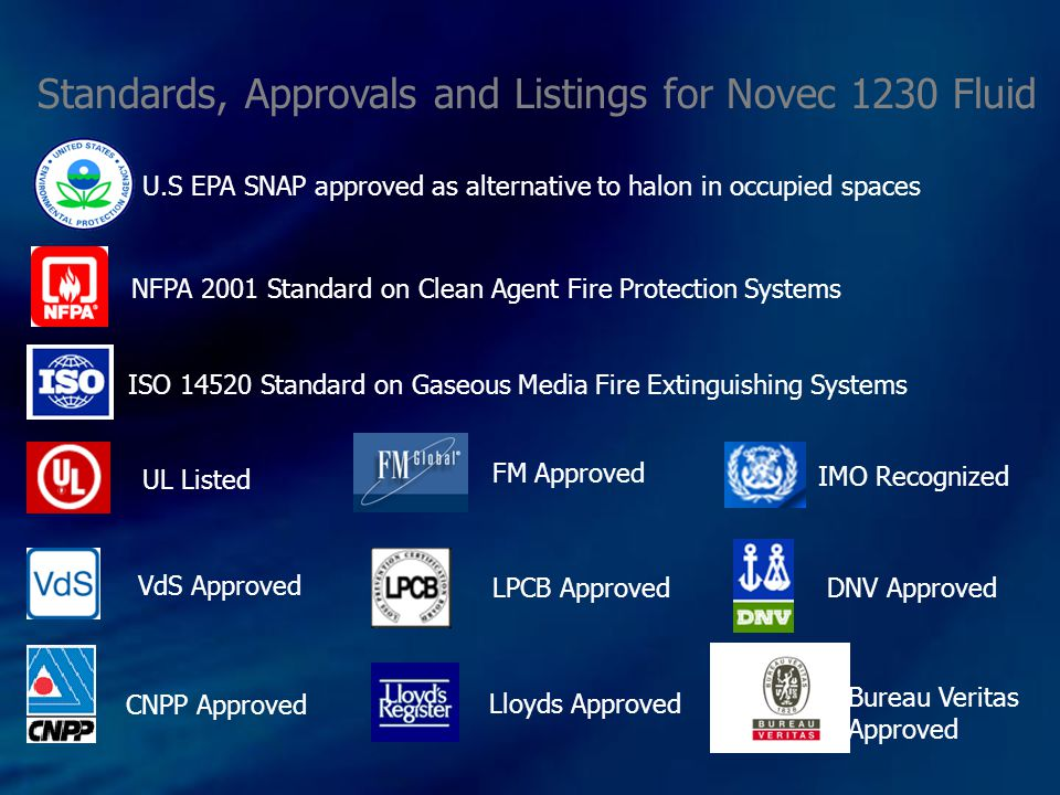 LISTINGS & APPROVALS Clean Agent (Sevo Equipment): UL & ULC Listed: 360 psi Pre-engineered Systems Engineered Systems by Mid-2010 FM Approved: 500 psi Pre-Engineered Systems Engineered Systems early 2010 UL & ULC Listed: 360 psi Pre-engineered Systems Engineered Systems by Mid-2010 FM Approved: 500 psi Pre-Engineered Systems Engineered Systems early 2010