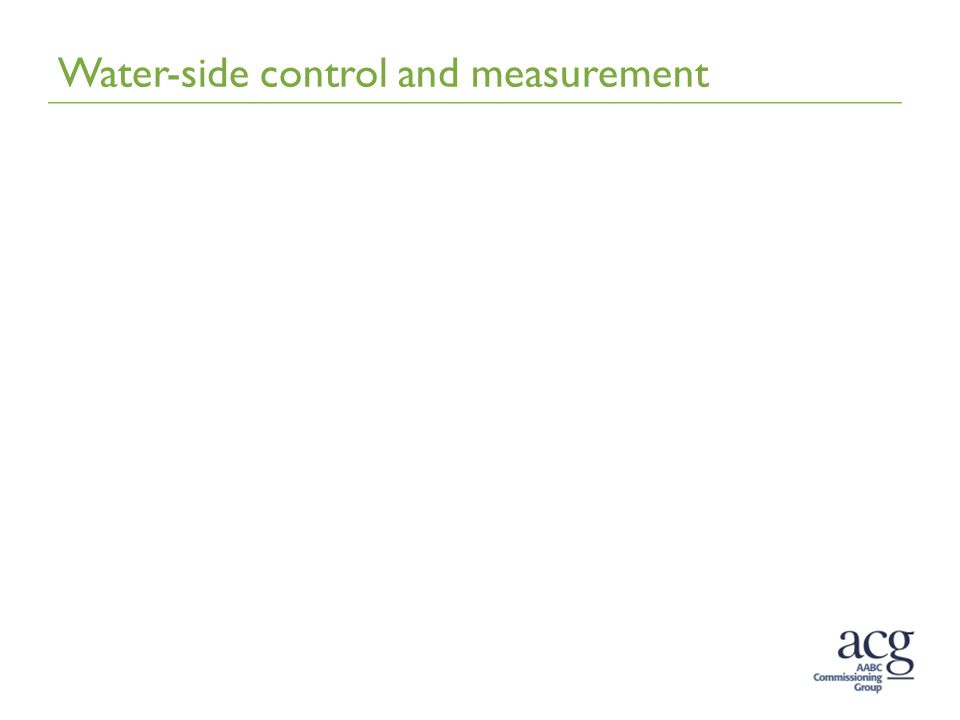 Water-side control and measurement