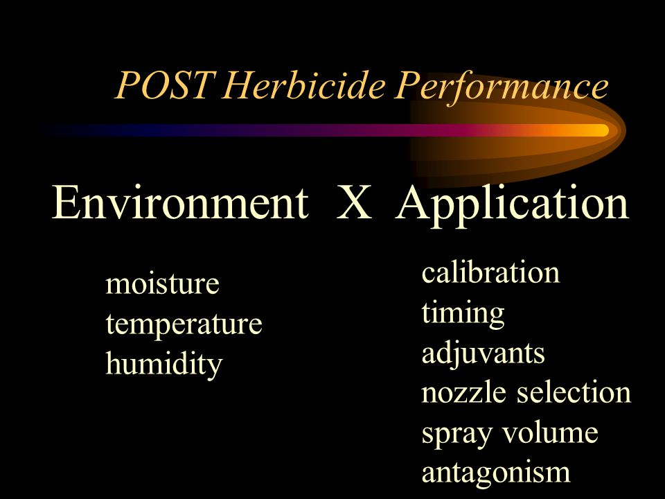 Topic for Discussion calibration timing adjuvants nozzle selection spray volume antagonism