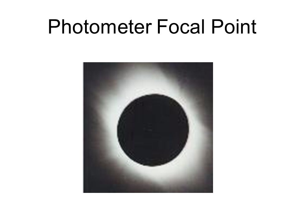 Photometer Focal Point