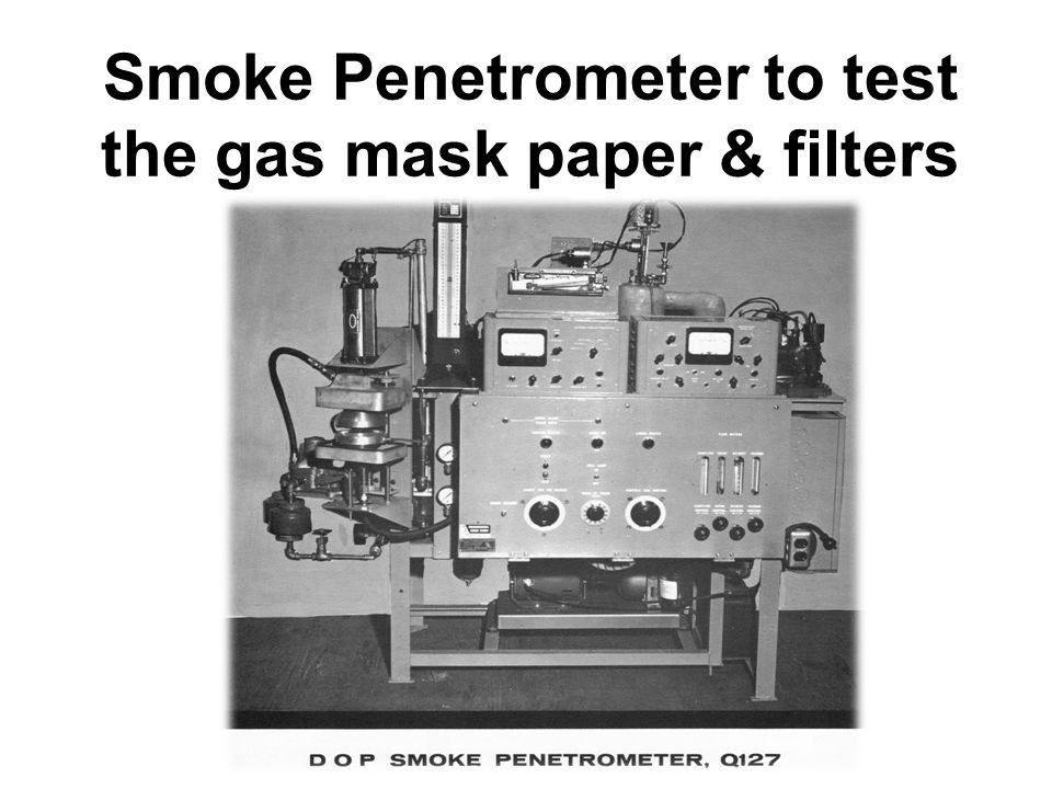 Smoke Penetrometer to test the gas mask paper & filters