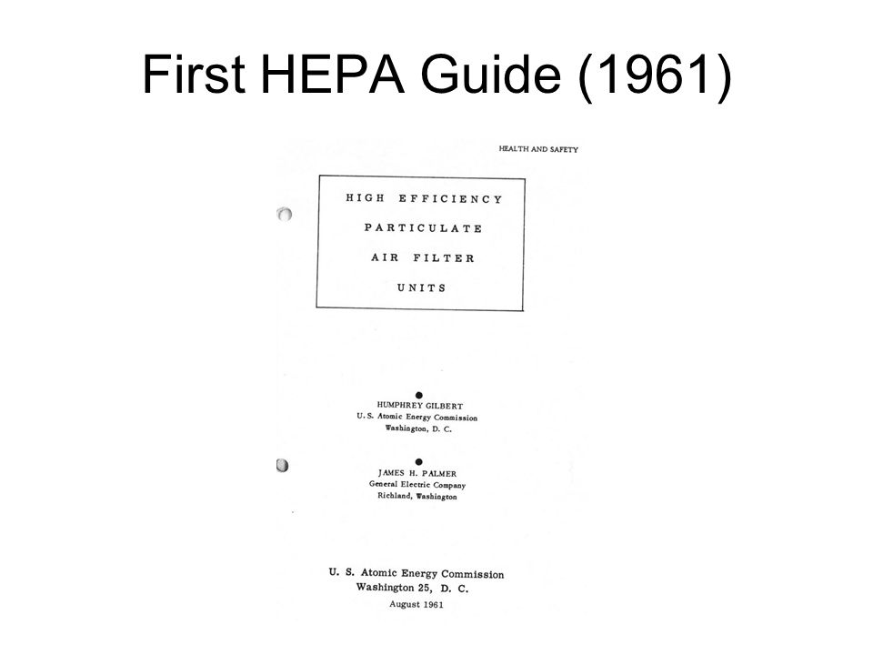 First HEPA Guide (1961)