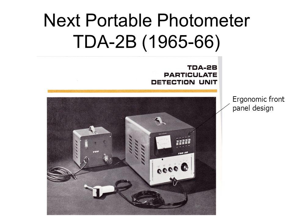Next Portable Photometer TDA-2B (1965-66) Ergonomic front panel design