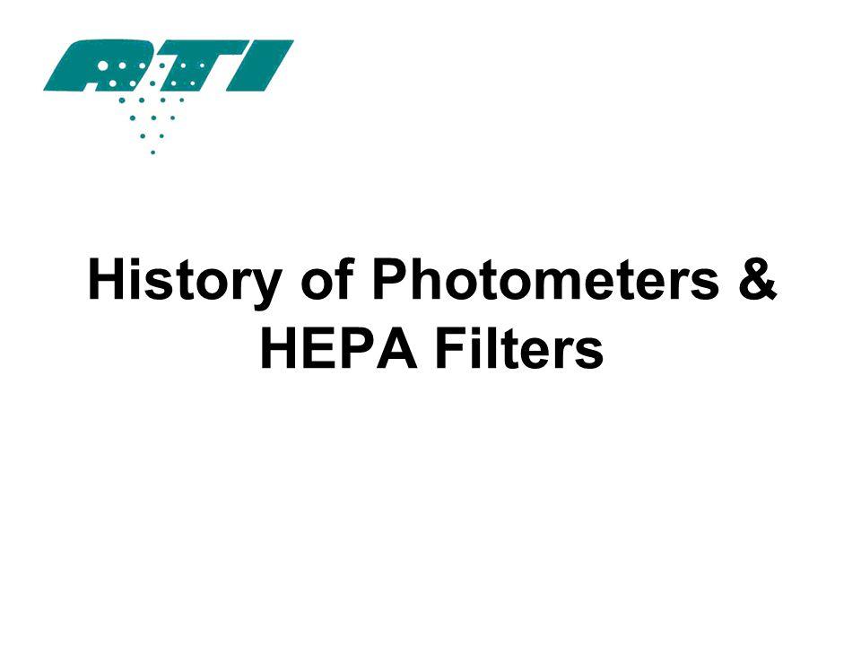 History of Photometers & HEPA Filters