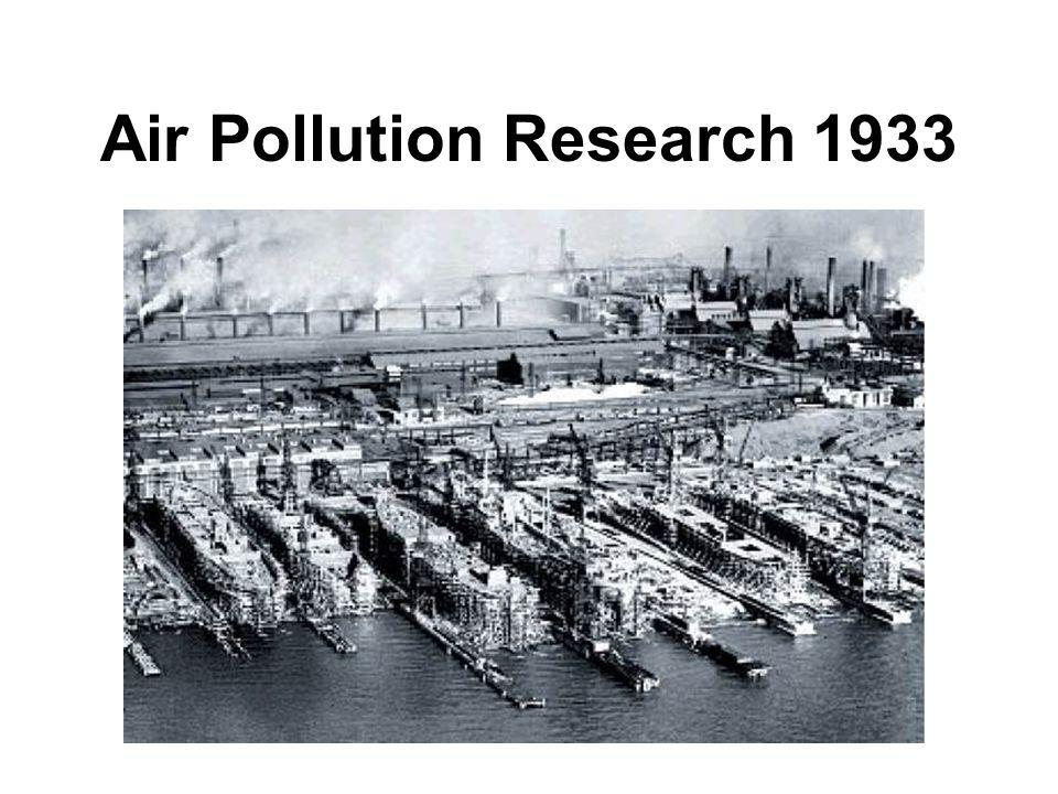 Air Pollution Research 1933