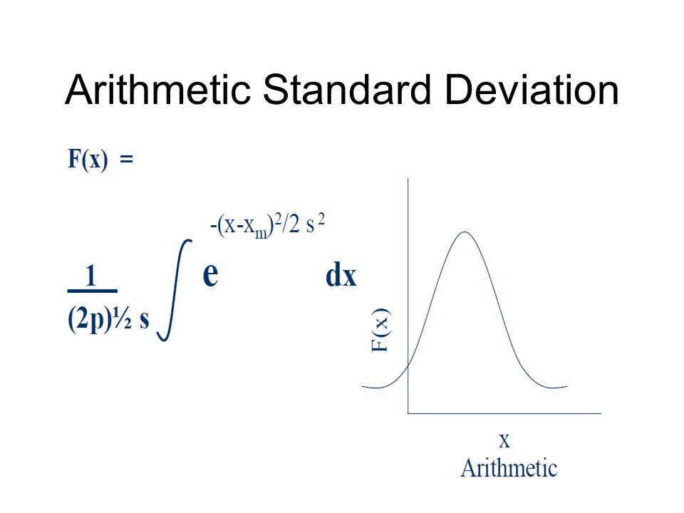 Arithmetic Standard Deviation
