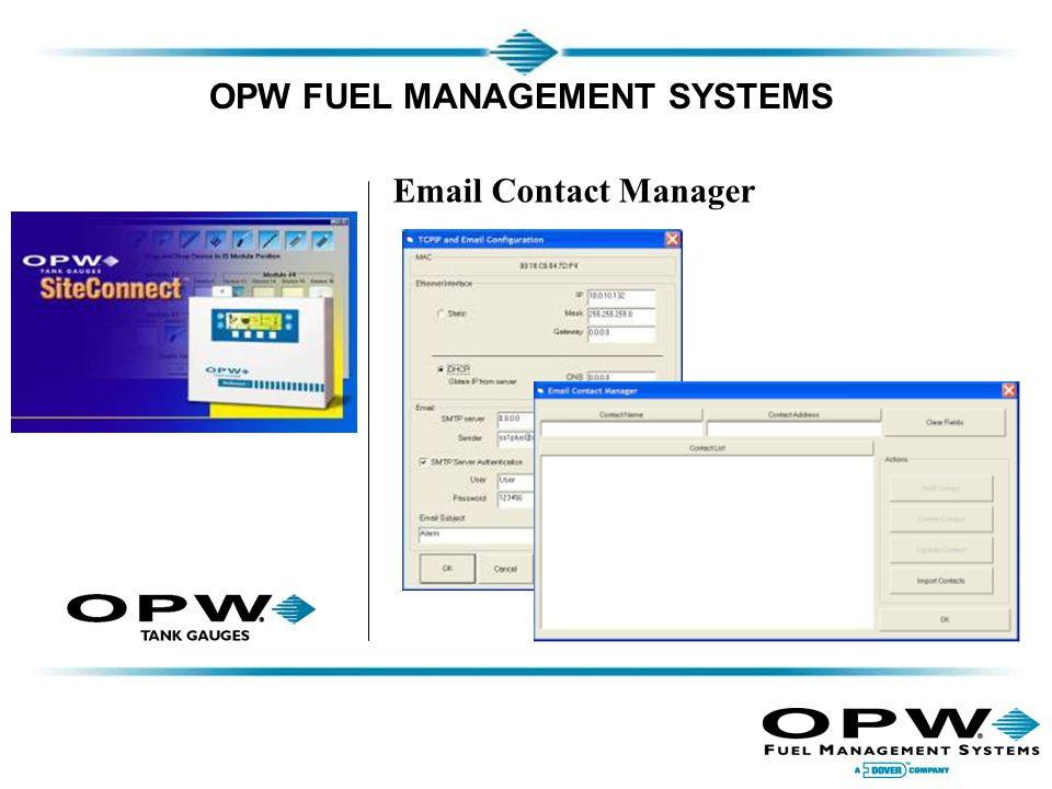 OPW FUEL MANAGEMENT SYSTEMS Email Contact Manager