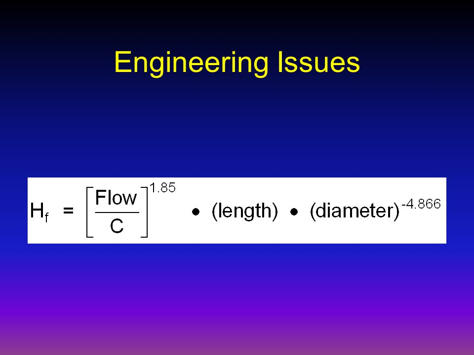 Engineering Issues