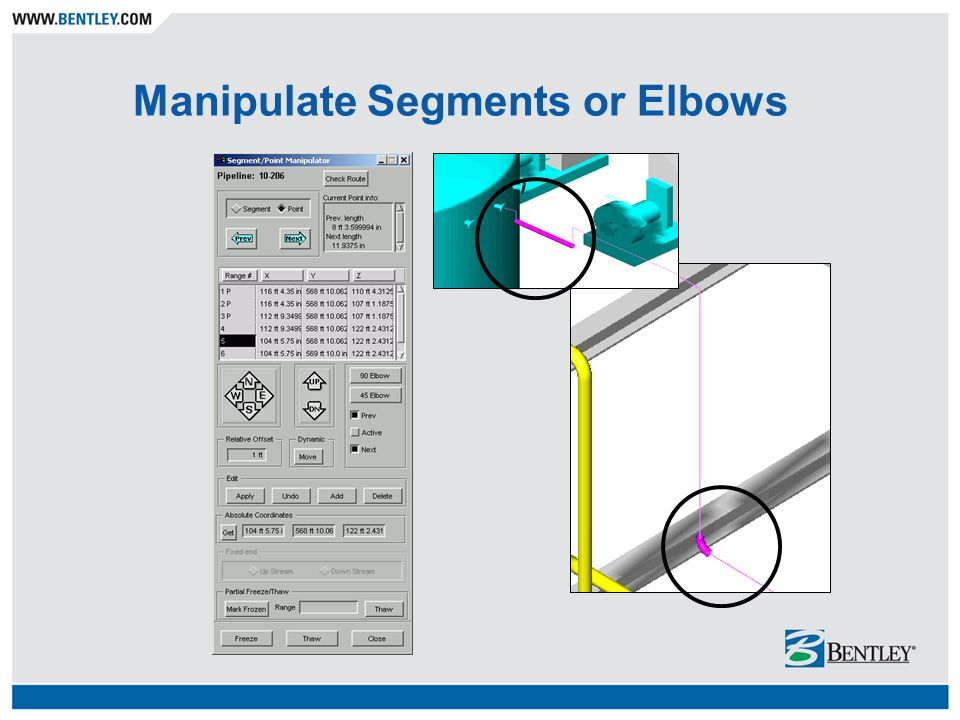 Manipulate Segments or Elbows