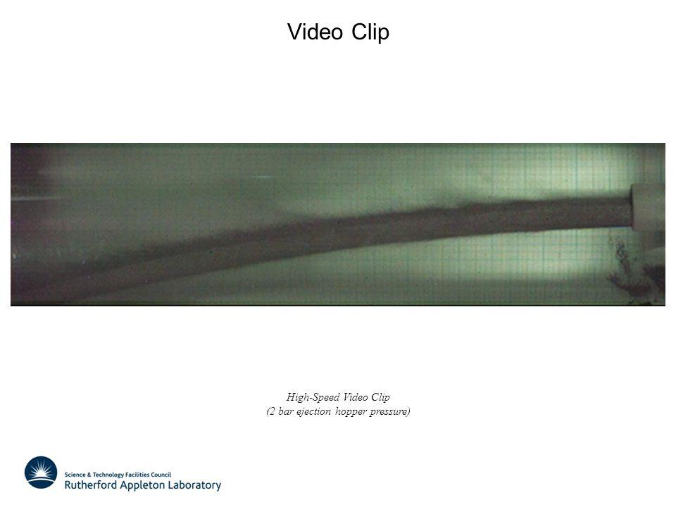 Video Clip High-Speed Video Clip (2 bar ejection hopper pressure)