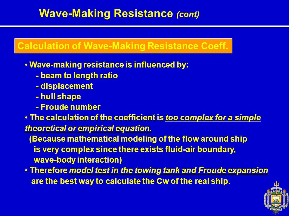 Calculation of Wave-Making Resistance Coeff.