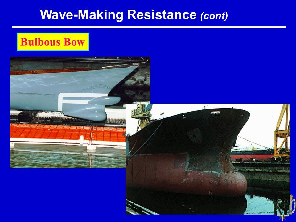Bulbous Bow Wave-Making Resistance (cont)