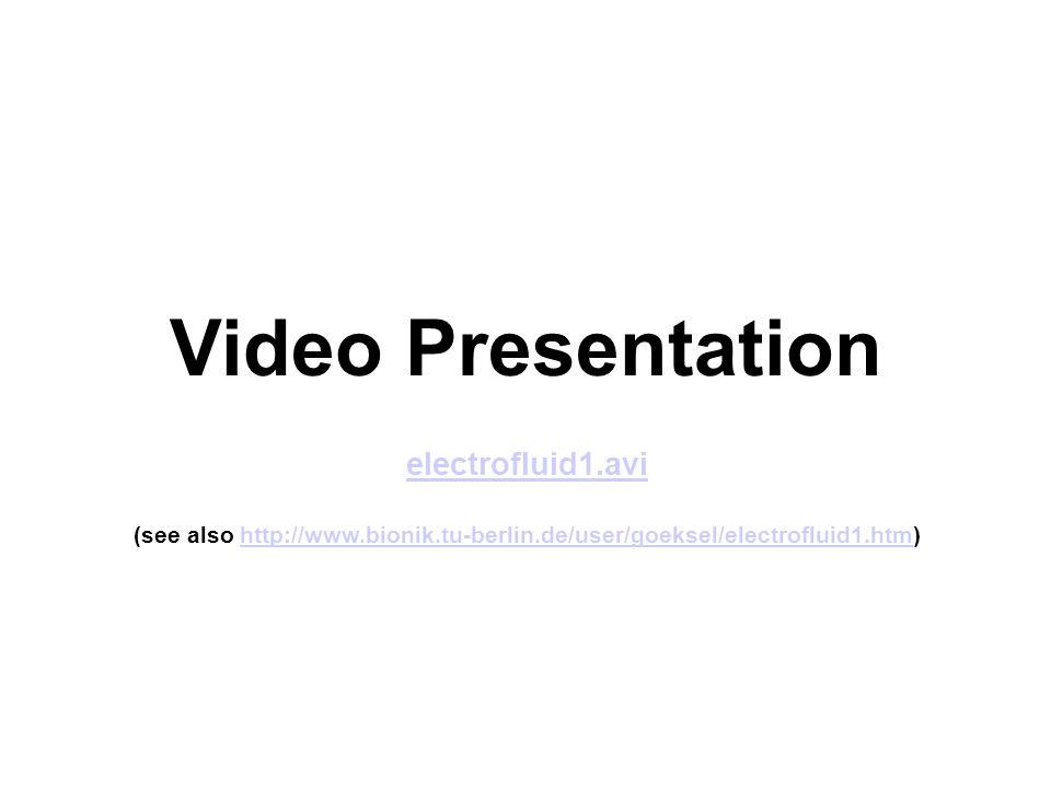 Video Presentation electrofluid1.avi (see also http://www.bionik.tu-berlin.de/user/goeksel/electrofluid1.htm)http://www.bionik.tu-berlin.de/user/goeksel/electrofluid1.htm