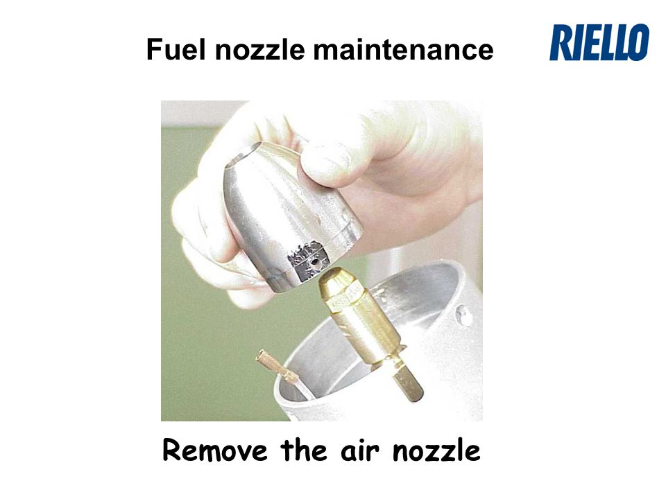 Remove the air nozzle Fuel nozzle maintenance