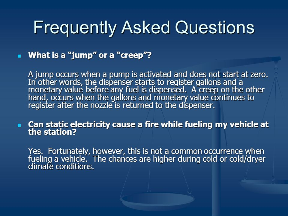 Frequently Asked Questions What is a jump or a creep .
