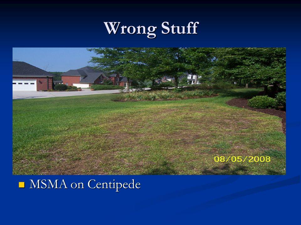 Wrong Stuff MSMA on Centipede MSMA on Centipede