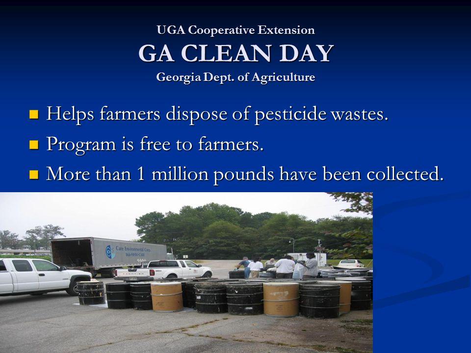 UGA Cooperative Extension GA CLEAN DAY Georgia Dept.