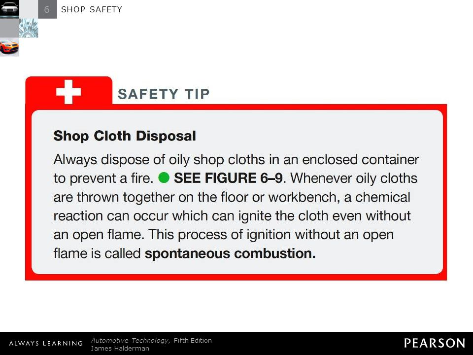6 SHOP SAFETY © 2011 Pearson Education, Inc.
