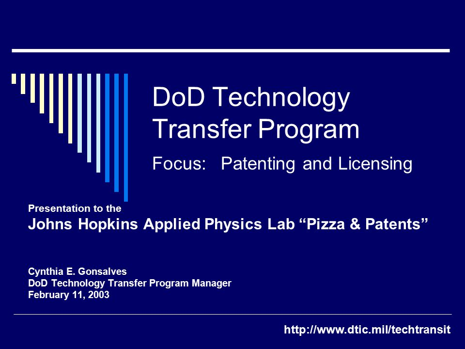 Definition  Technology Transfer (T2) is the intentional communication of knowledge, expertise, facilities and equipment, and other resources for application to military and non-military systems.