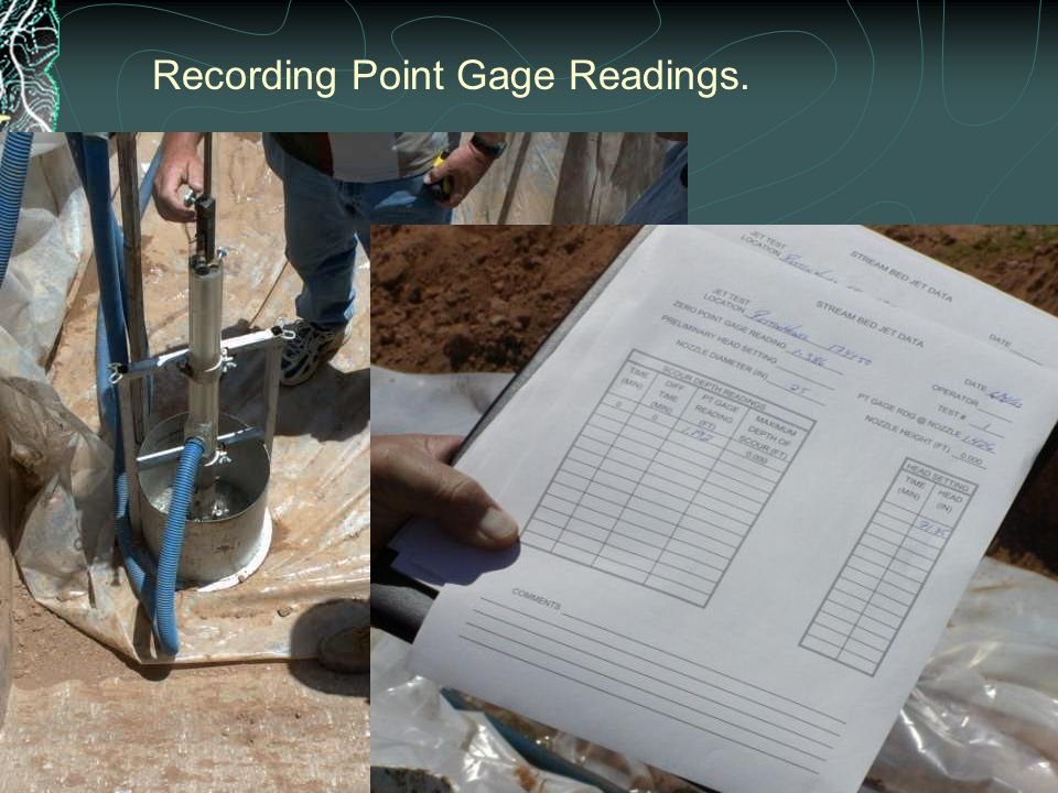 Recording Point Gage Readings.