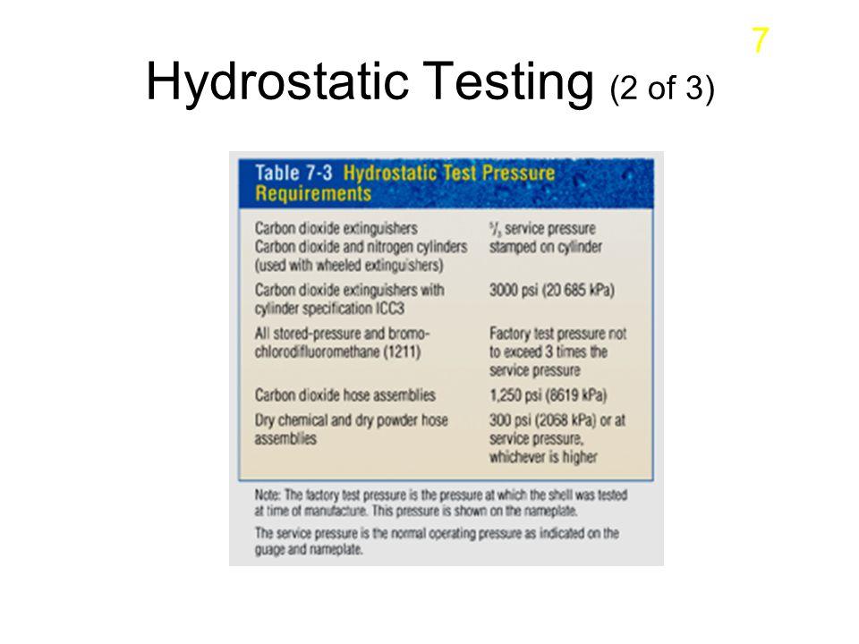 Hydrostatic Testing (2 of 3) 7