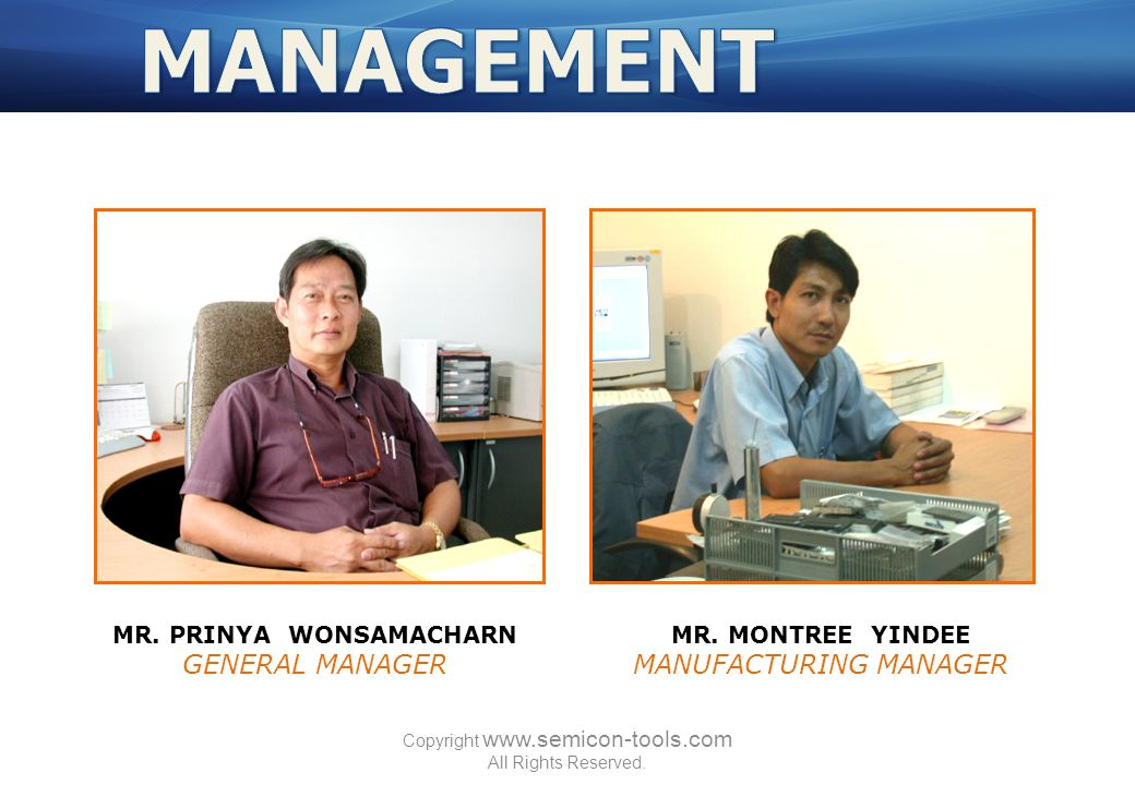 MR. PRINYA WONSAMACHARN GENERAL MANAGER MR.