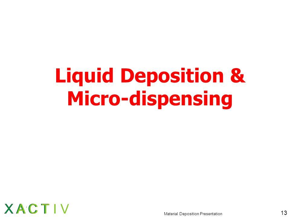 Material Deposition Presentation 13 Liquid Deposition & Micro-dispensing