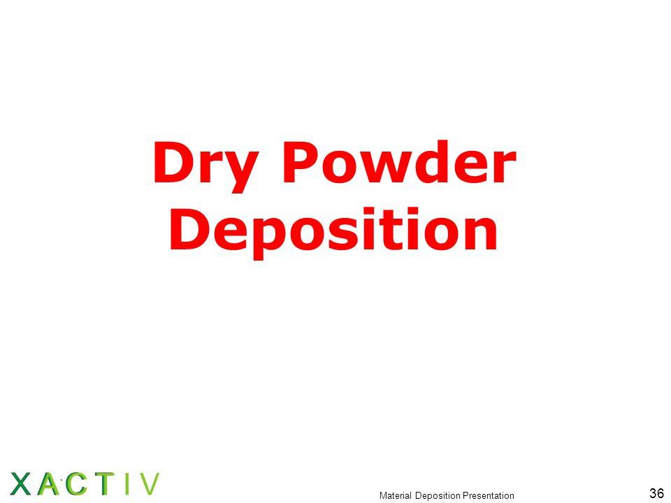 Material Deposition Presentation 36 Dry Powder Deposition
