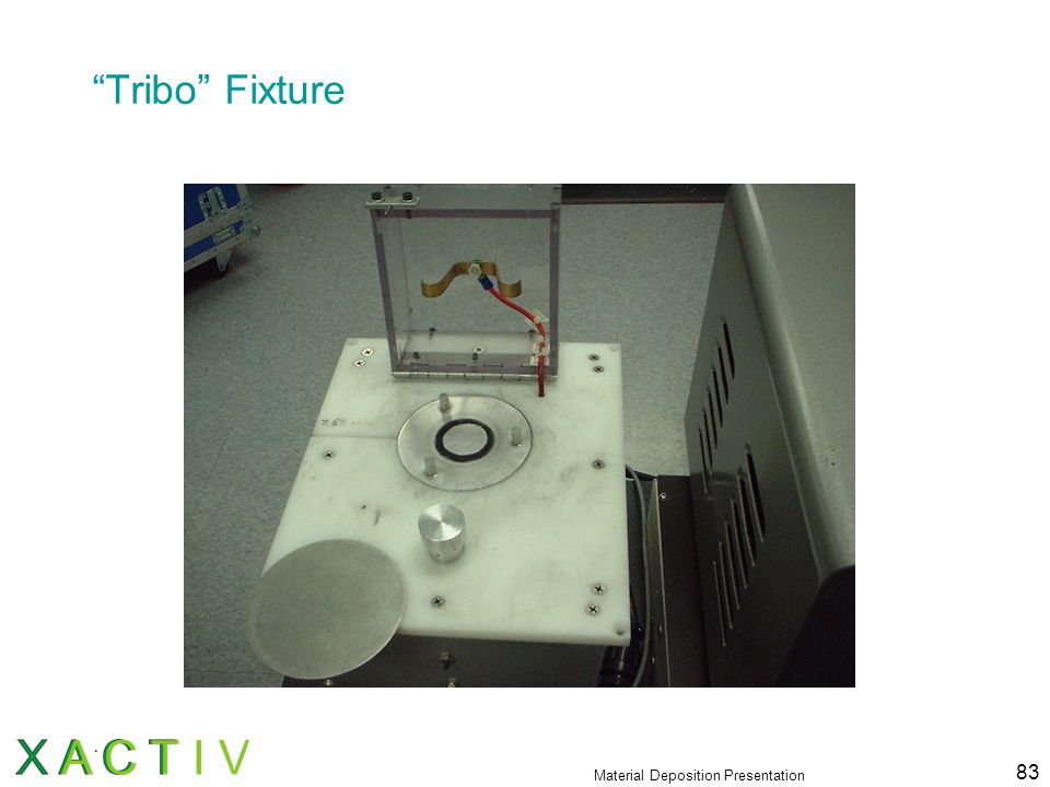 "Material Deposition Presentation 83 ""Tribo"" Fixture"