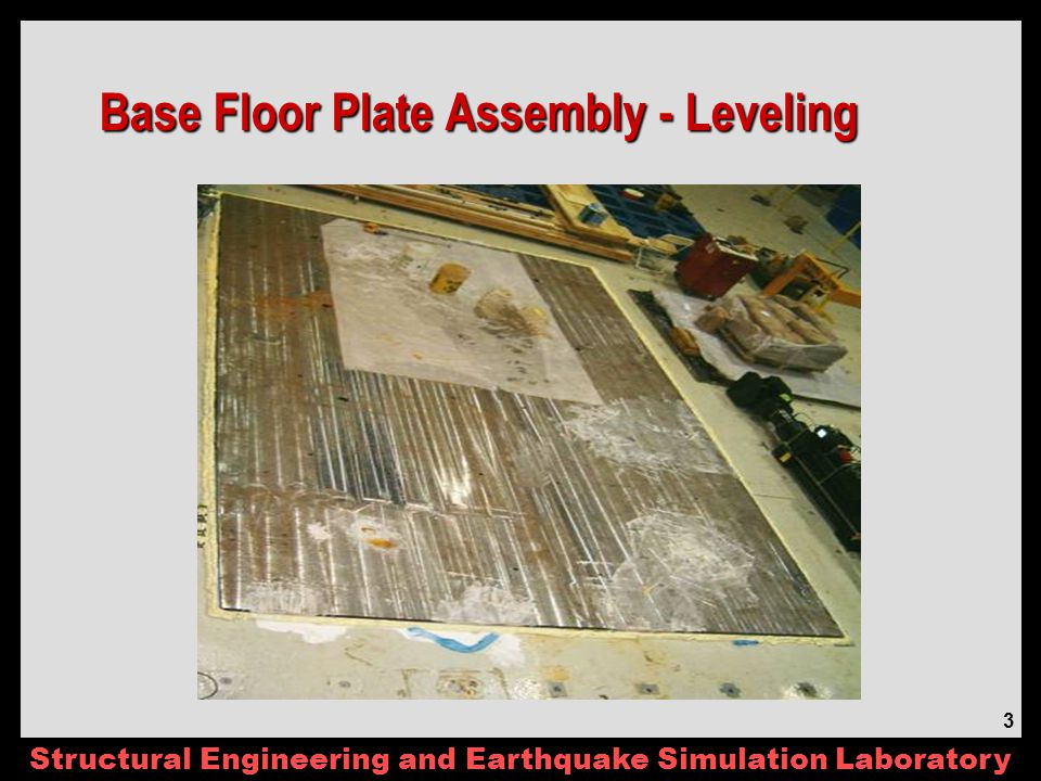 Structural Engineering and Earthquake Simulation Laboratory 24 Agenda – 6/27/06 Review of Minutes (ST, RD) Schedule (Updated 05/2006) – No Change Non-Destructive Shaking (MP, MZ, AE) Sand Construction & Density Control (ST) Updated Instrumentation & Coordination (ST, TA) Sloping Ground – Simulations & Ground Motion (MG, AE) – See Presentation Part B Decision - Pile size, thickness, etc.