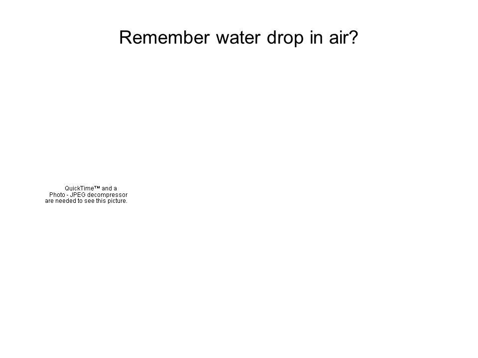 Remember water drop in air