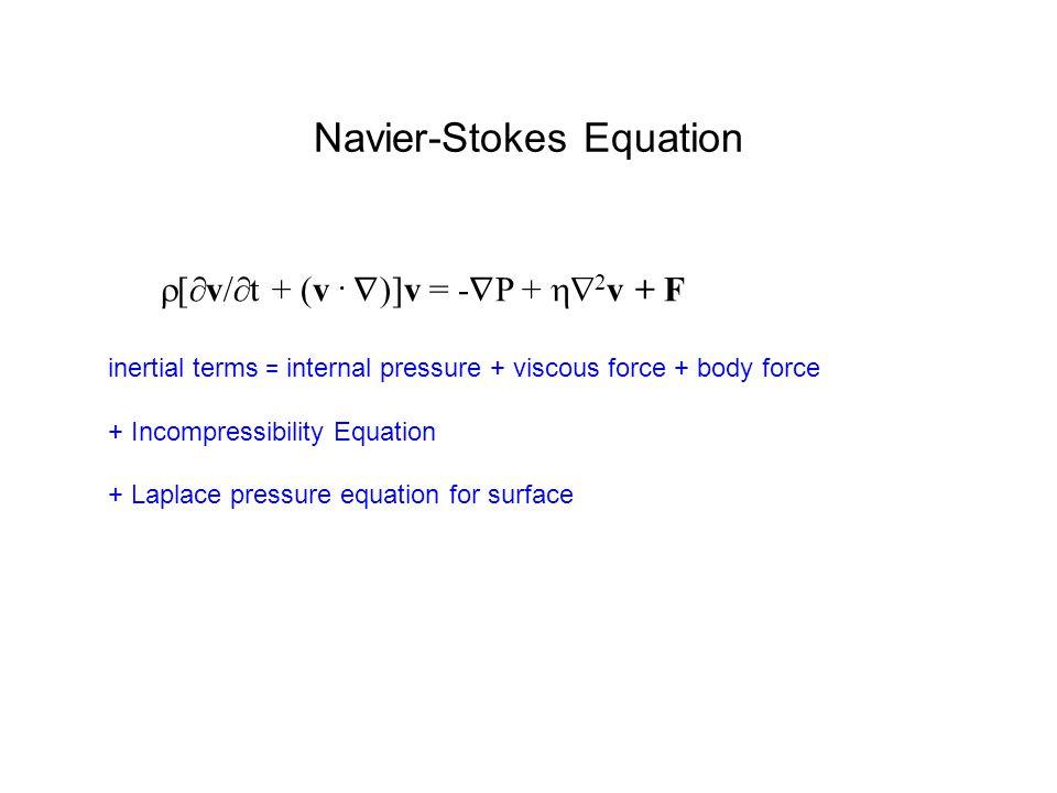 Navier-Stokes Equation  [  v/  t + (v.