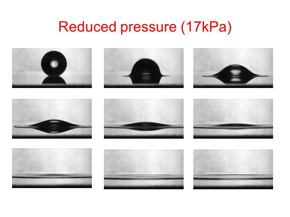 Reduced pressure (17kPa)