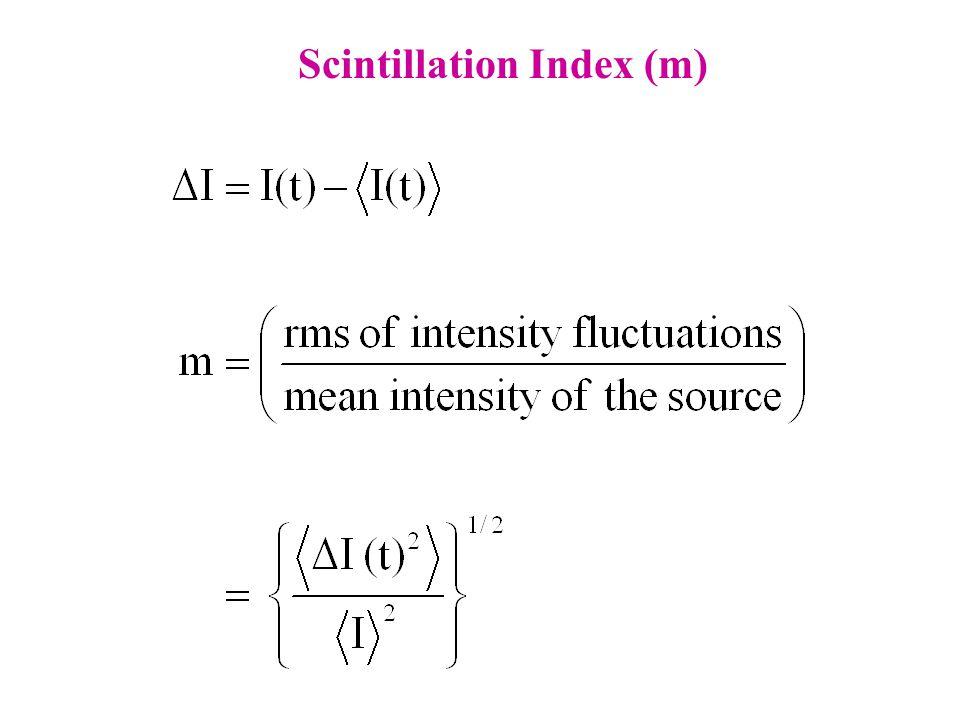 Scintillation Index (m)