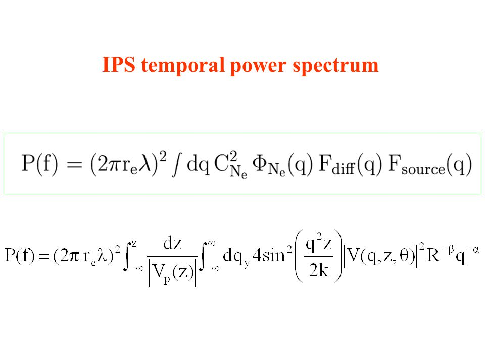 IPS temporal power spectrum