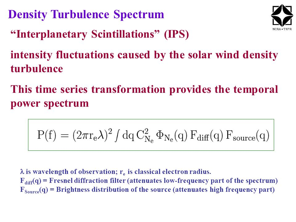 is wavelength of observation; r e is classical electron radius.