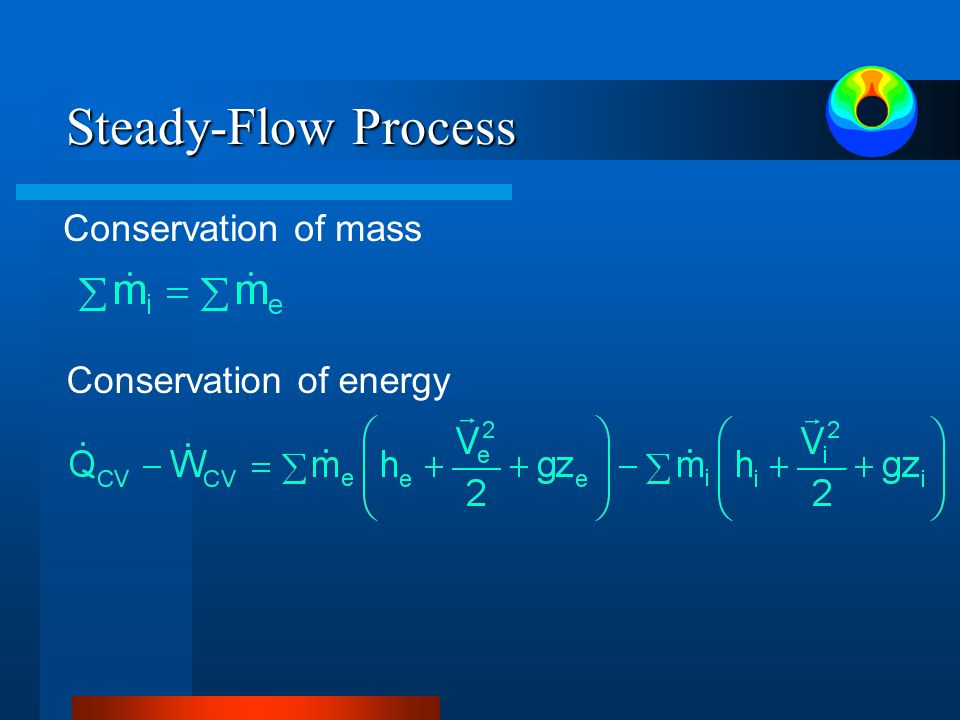 Steady-Flow Process Conservation of mass Conservation of energy