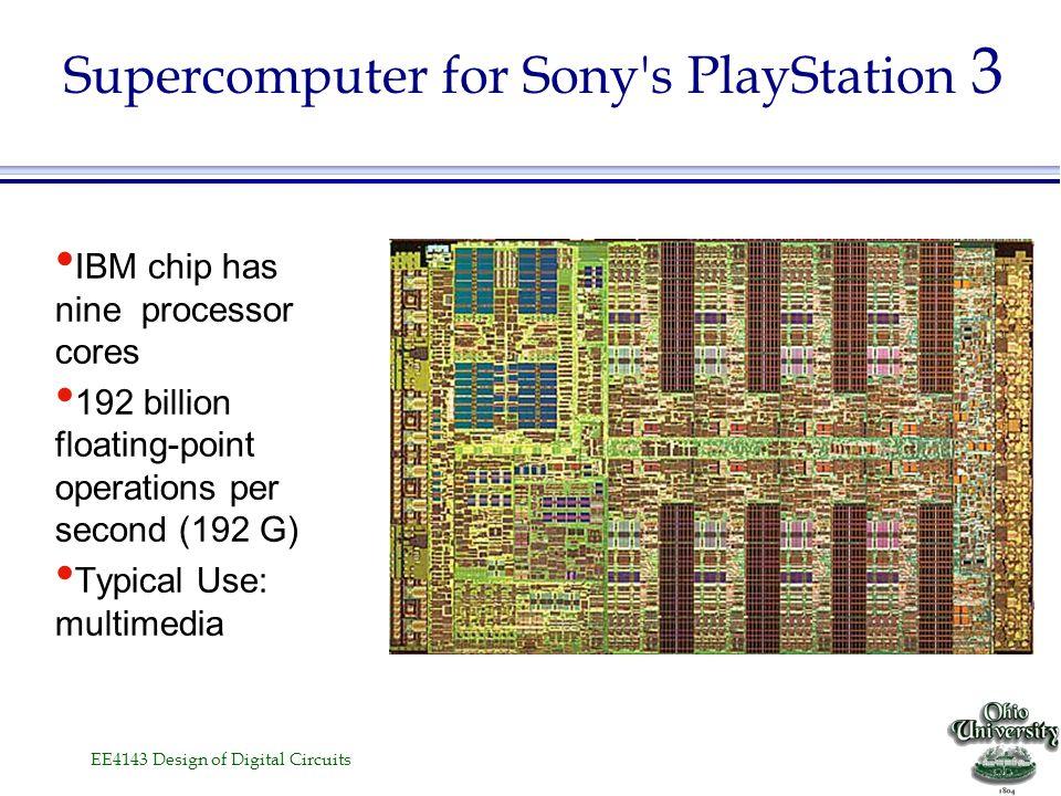 EE4143 Design of Digital Circuits Pentium 4 »Introduction date: November 20, 2000 –1.4 GHz clock –fabricated in 180 nm process, –42 mln transistors) »