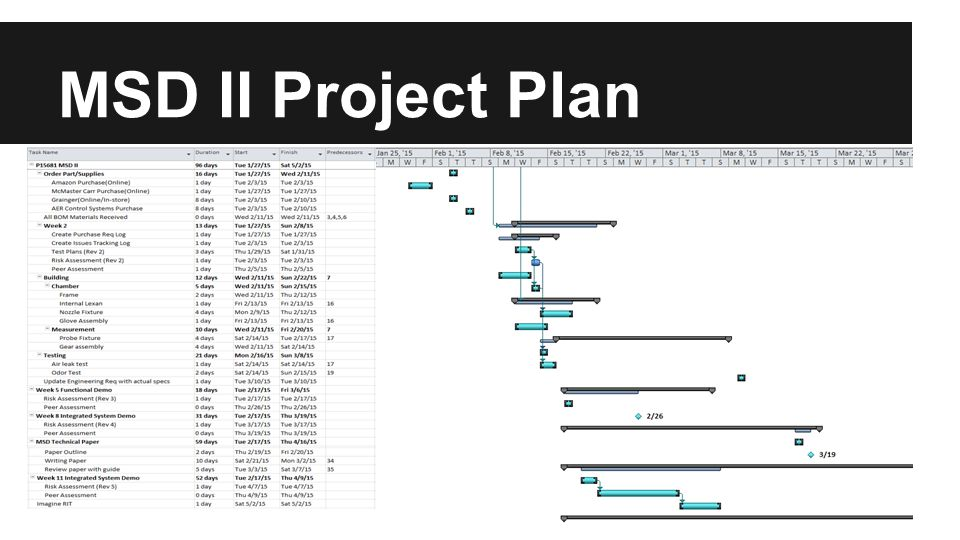 MSD II Project Plan