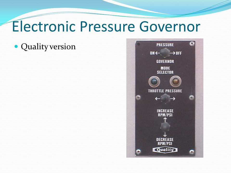 Electronic Pressure Governor Quality version