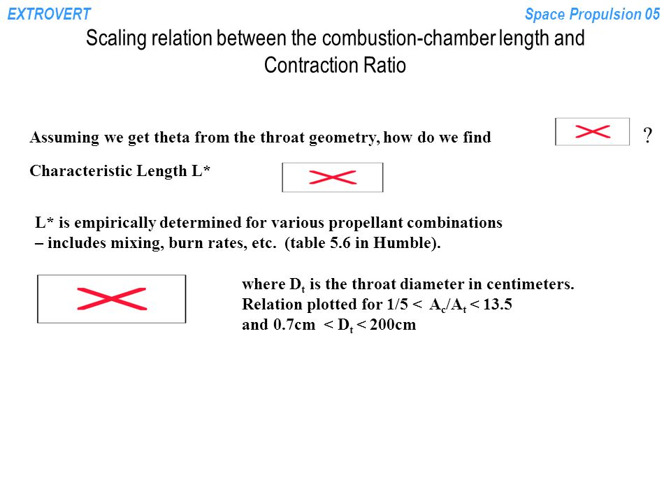 EXTROVERTSpace Propulsion 05 Scaling relation between the combustion-chamber length and Contraction Ratio Assuming we get theta from the throat geometry, how do we find .